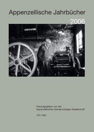 Jahrbuch 2006 - Appenzellische Gemeinnützige Gesellschaft