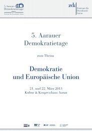 Demokratie und Europäische Union 5. Aarauer ... - Aarau Info