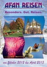 Winterkatalog von Afan Reisen 2012