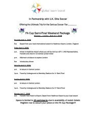 FA Cup Semi-Final Weekend Package - UK Elite Soccer
