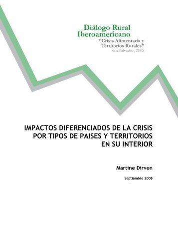 IMPACTOS DIFERENCIADOS DE LA CRISIS POR TIPOS ... - Rimisp