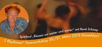5 Rhythmen® Tanzworkshop 30./31. März 2013 Düsseldorf