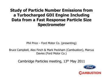 Study of Particle Number Emissions from a Turbo GDI Engine using ...