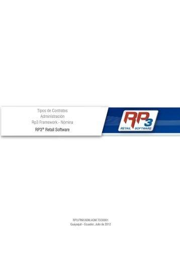 Tipos de Contrato - RP3 Retail Software