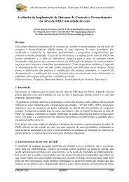 Avaliação da Implantação de Sistemas de Controle e ... - UTFPR