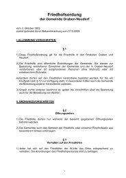 Friedhofsordnung - Gemeinde Graben-Neudorf
