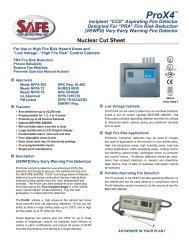 Nuclear Cut Sheet - Safe Fire Detection Inc.
