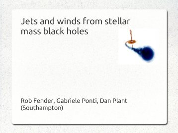 Jets and winds from stellar mass black holes: Rob Fender