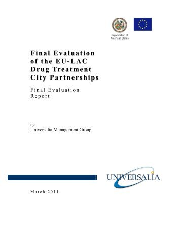 Final Evaluation of the EU-LAC Drug Treatment City Partnerships