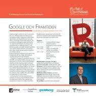 Google och framtiden under Bokmässan 22 ... - Bok & Bibliotek