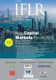 Asia Capital Markets Forum 2010 - IFLR.com