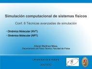 Conferencia 8 - Facultad de Física - Universidad de La Habana