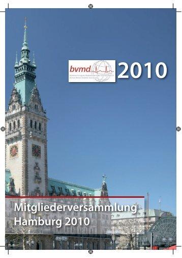 Mitgliederversammlung Hamburg 2010 - der bvmd-Hamburg