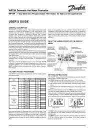 Danfoss Randall WP7BH & WP75-RF Programmable ... - BHL.co.uk