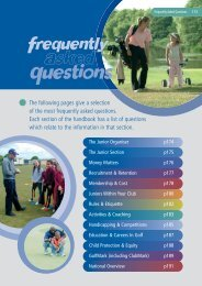 Junior Organisers Handbook: Frequently Asked ... - England Golf