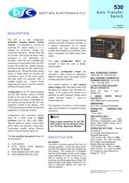 spec sheet (PDF 117k) - Power Drive Systems Generator Automatic ...