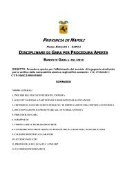 DISCIPLINARE DI GARA PER PROCEDURA APERTA BANDO DI ...