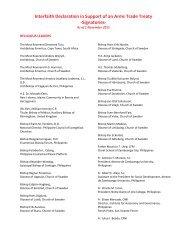 Signatories - Control Arms