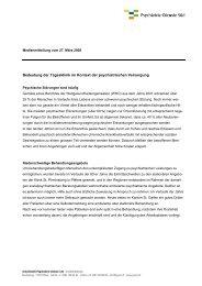 Bedeutung der Tagesklinik im Kontext der psychiatrischen Versorgung