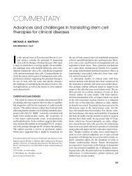 Advances and challenges in translating stem cell transplantation for ...