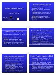 Processi attentivi ed esecutivi - Marzocchi - Aidai