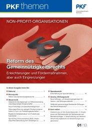 13 Reform des Gemeinnützigkeitsrechts - PKF Fasselt Schlage
