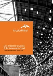 Our progress towards Safe Sustainable Steel - ArcelorMittal