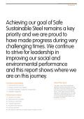 Our progress towards Safe Sustainable Steel - ArcelorMittal - Page 5