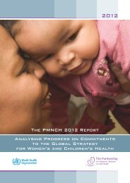The PMNCH 2012 Report - World Health Organization