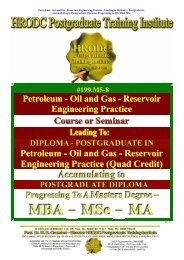Oil and Gas - Reservoir Engineering Practice (Quad ... - HRODC.com