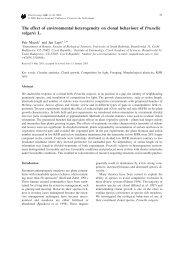 The effect of environmental heterogeneity on clonal behaviour of ...