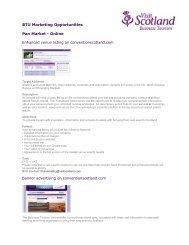 BTU Marketing Opportunities Pan Market - Conventionscotland.com