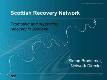 Recovering Mental Health in Scotland - Página 1 de cada 4