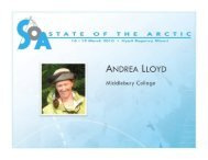 Download PDF (4 MB) - State of the Arctic 2010