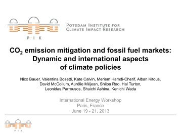 CO2 Emission Mitigation and Fossil Fuel Markets - World Energy ...