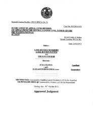 Approved Judgment