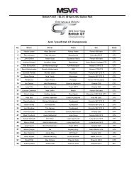 Avon Tyres British GT Championship - MotorSport Vision Racing