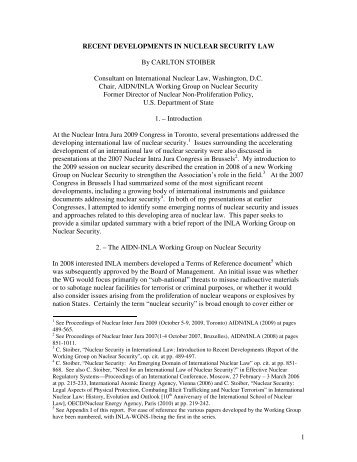 Recent developments in nuclear security law - Burges Salmon