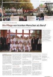 Die Pflege von kranken Menschen als Beruf - Odenwaldregional