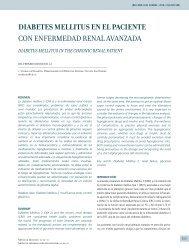 diabetes mellitus en el paciente con enfermedad renal avanzada