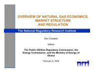 overview of natural gas economics, market structure and regulation