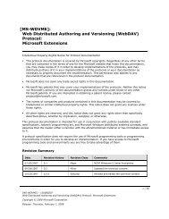 (WebDAV) Protocol: Microsoft Extensions