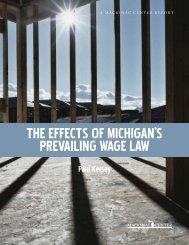 The effecTs of Michigan's Prevailing Wage laW - ABC - Associated ...