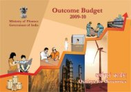Outcome Budget 2009-2010 English (4 MB) - Ministry of Finance