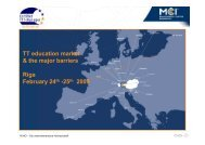 TT Education market and the major barriers - Cert-TTT-M