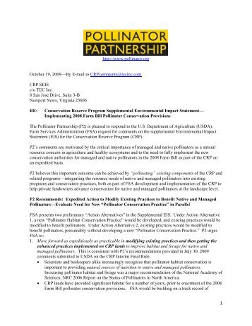P2 Comments on Supplemental EIS for Conservation Reserve ...