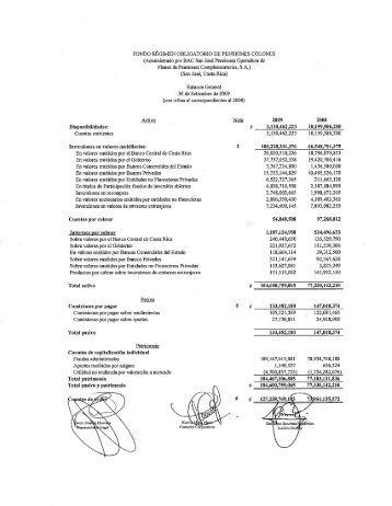 Modelo informe de Fondos de Inversión - Credomatic