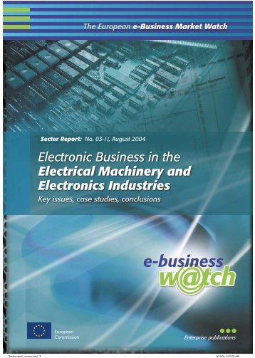 Electronic Business in the Electrical Machinery and Electronics ...