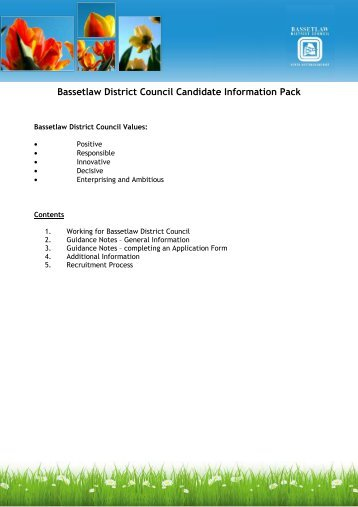Bassetlaw District Council Candidate Information Pack