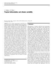 Tropical deforestation and climate variability - Geoma